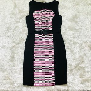 MILLY tweed panel dress